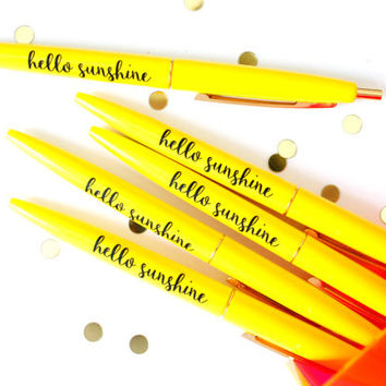 Hello Sunshine Pen Set in Sunny Yellow