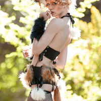 Entire Pin-Up Halloween Fox Costume Ensemble