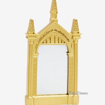 Licensed cool Harry Potter Gold Frame Mirror Of Erised Replica Hand Mirror Gift New In Package