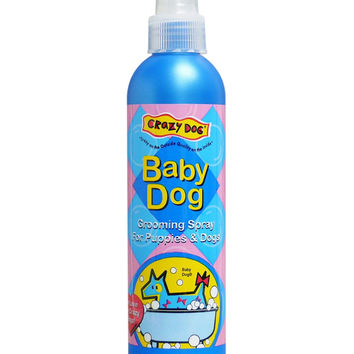 Crazy Dog Groom Spray Baby Powder 8 oz