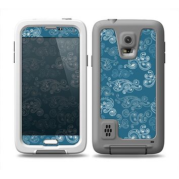 The Seamless Blue and White Paisley Swirl Skin Samsung Galaxy S5 frē LifeProof Case
