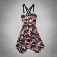 Lindsey Asymmetric Printed Dress