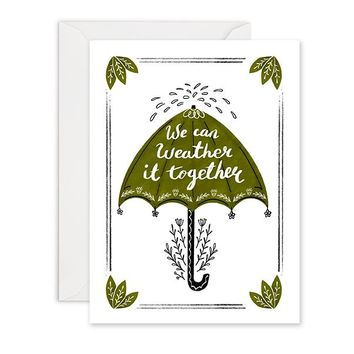 Umbrella Weather - Sympathy Card