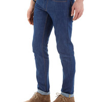 Bright Blue Raw Stretch Skinny Jeans - Mens Jeans - Clothing