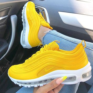 Nike Air Max 97 air cushion yellow Gym shoes  (9 colors)