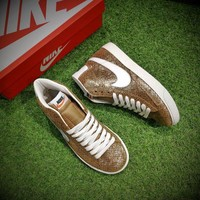 Best Online Sale Nike Blazer SDE Low And Mid Skateboard Gold Casual Shoes