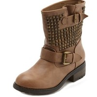 Pyramid Stud Ankle Boot: Charlotte Russe