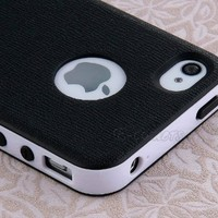 Pandamimi Dexule Black White Fashion Sweety Girls TPU and PC 2-Piece Style Hard Case Cover for iPho