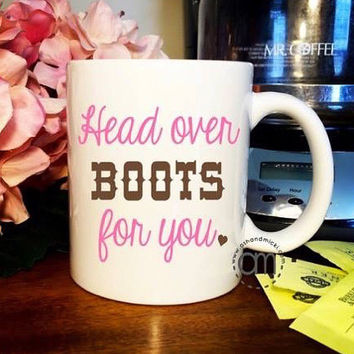 Southern Gift, Head Over Boots, Coffee Mug
