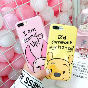 Cute Memo Dory Donald Daisy Duck pig Pooh Chip Dale Mickey Minnie Mouse Soft TPU Case For iPhone XS MAX 6 6Plus 7 7Plus 8 8Plus
