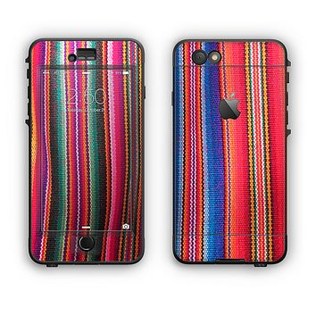 The Colorful Striped Fabric Apple iPhone 6 Plus LifeProof Nuud Case Skin Set