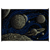 Galactic Outer Space 3D Tapestry on Sale for $31.95 at The Hippie Shop