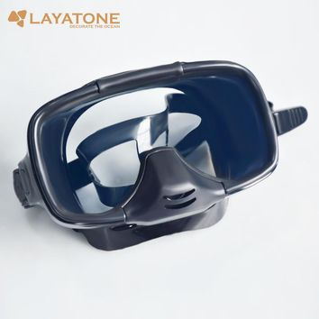 100% positive feedback pearfishing scuba tempered glass diving mask Underwater hunting snorkeling spearfishing fishing M-255