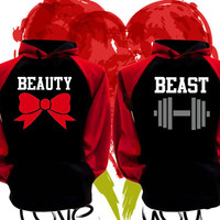 Price For 2 Hoodies - Beast and Beauty Perfect Matching Love Set Hoodie Sweatshirts Hoodies