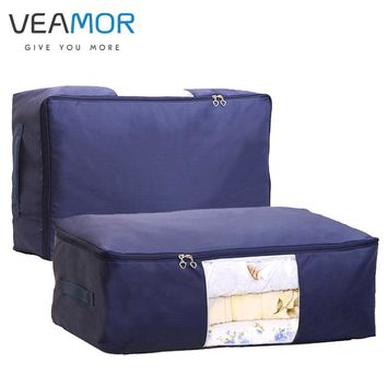 VEAMOR Quilt Storage Bags Oxford Luggage Bags S-XXL Home Storage Organiser Washable Wardrobe Clothes Storing Storage Bags