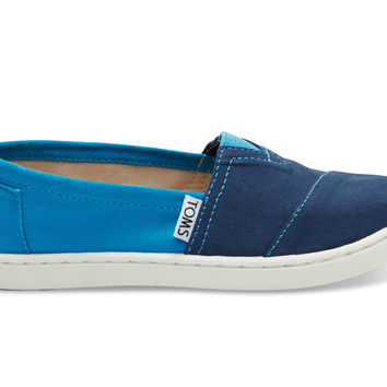 TOMS Navy Color Block Youth Classics