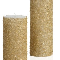 Beaded Pillar - Gold | Candles-home-fragrance | Accessories | Z Gallerie