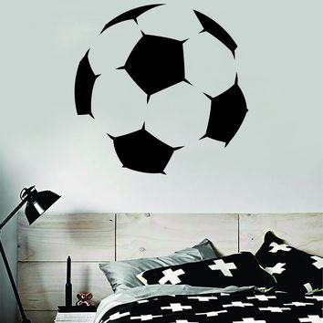 Soccer Ball Decal Sticker Wall Vinyl Art Home Decor Inspirational Sports Teen Futbol Football Goalie FIFA