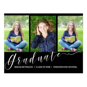 Photo Graduation Announcement Invitation Postcard