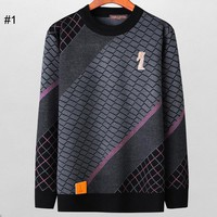 LV Louis Vuitton autumn and winter new cold soft men's wild round neck pullover sweater #1