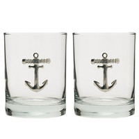 Anchor Double Old Fashioned Glasses, Set of 2 | Gump's