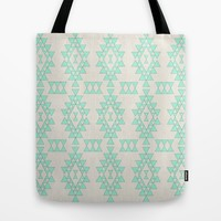 Mint Geo Tote Bag by Sandra Arduini | Society6