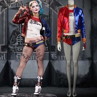 Suicide Squad Harley Quinn cosplay costume Halloween costumes for adult women costume Harley Quinn cosplay Harley Quinn suit