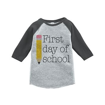 Custom Party Shop Kids First Day of School Raglan Tee