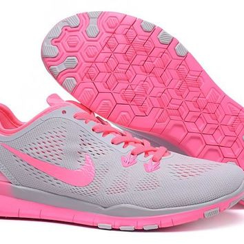 Women's Training Shoes: Nike Free TR FIT 5 Brthe Grey/Pink