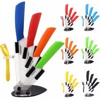 Ceramic Kitchen Knife with Stand Set