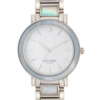 Kate Spade New York Ladies Gramercy Silver Tone and Mother of Pearl Watch