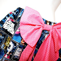 Star Wars Gathered Mini Skirt, Hot Pink Bow