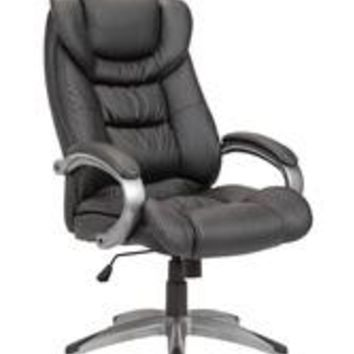 Adjustable Swivel Office Chair Powder Coated, Black