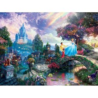 Thomas Kinkade The Disney Dreams Collection Cinderella Wishes Upon a Dream Puzzle - Puzzle Haven