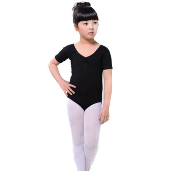 Girl Kids Ballet Dance Costumes Cotton Lycra Gymnastics Skating Clothes Leotards SM6