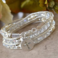 Chinese Crystal Christian Wrap Bracelet