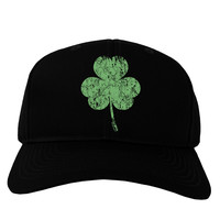 Distressed Traditional Irish Shamrock Adult Dark Baseball Cap Hat