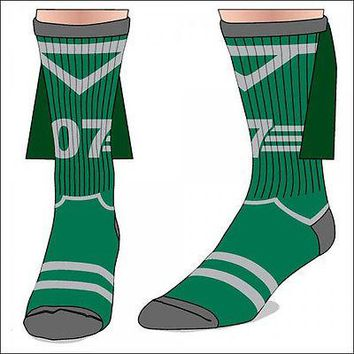 Harry Potter Slytherin Quidditch Costume Cosplay Crew Socks with Cape LICENSED
