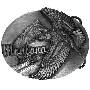 Sports Accessories - Montana Eagle Antiqued Belt Buckle