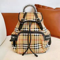 BURBERRY fashion hot seller casual check color matching women's casual shoulder shopping bag