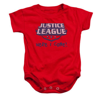Justice League Here I Come Infant Onesuit