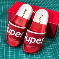 Supreme Suprize Design Red White Sandals - Best Online Sale