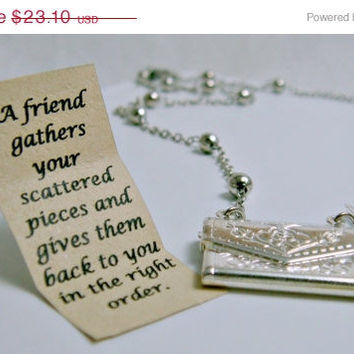 ON SALE Letter Locket Necklace Envelope Necklace by CaptureMyArt