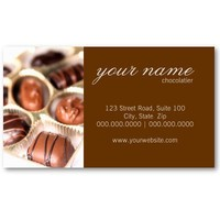 Chocolates Business Cards from Zazzle.com
