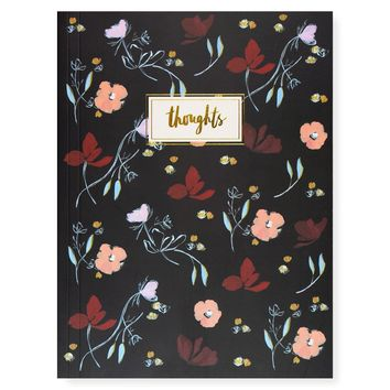 Wine Petals Thoughts Blank Notebook
