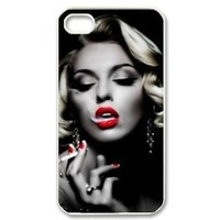 Marilyn Monroe Snap-On Carrying Case for iPhone 4 4s, smoking