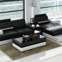 Luxury Modern Marche chaise longue leather sofa corner sofa