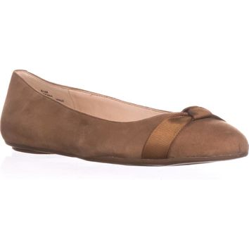 Nine West Benna Ballet Flats, Dark Natural, 6.5 US