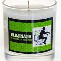 Eliminate the Stench of the Dead Zombie Candle (Soy, Green Tea Scent, 9oz, Glass)