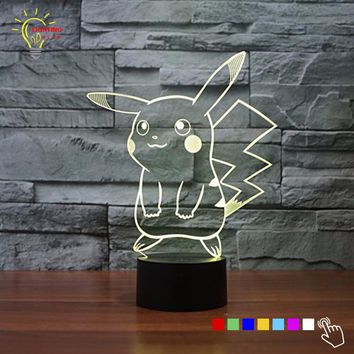 3D LED Character 6 Different Styles With 7 Changable Colors